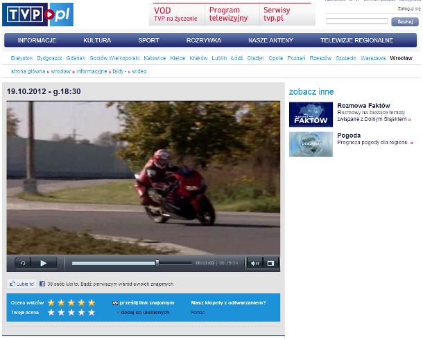 FAKTY Wrocław (19.10.2012 - g.18:30) materiał od min. 11:00